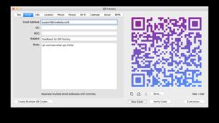 QR Factory: Professional QR code creator for macOS